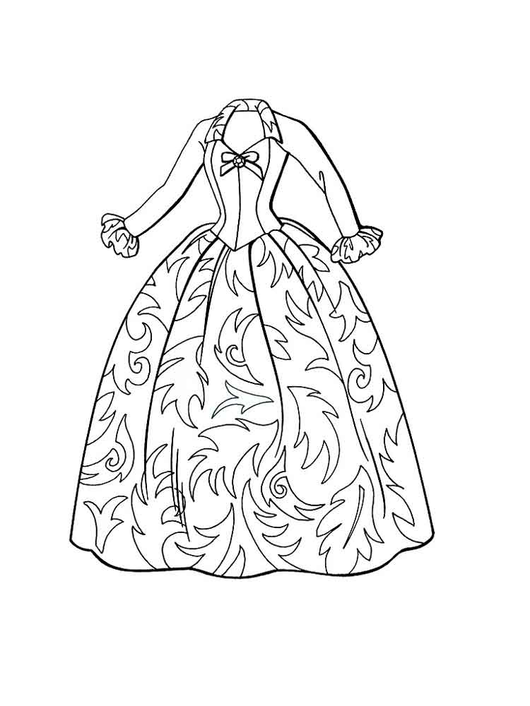 coloring pages of dresses dress coloring pages getcoloringpagescom coloring dresses of pages