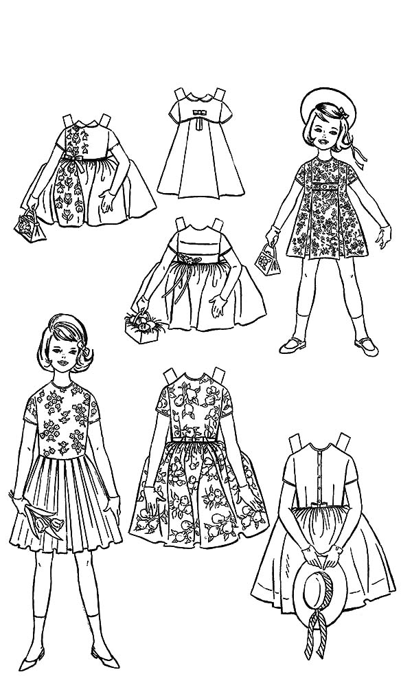 coloring pages of dresses dress coloring pages getcoloringpagescom of coloring pages dresses