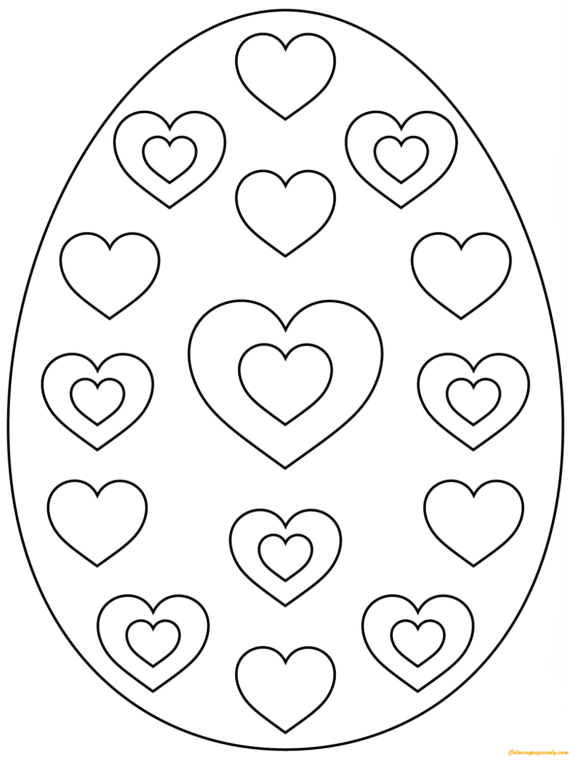 coloring pages of easter eggs easter egg with abstract pattern coloring page free easter coloring pages eggs of