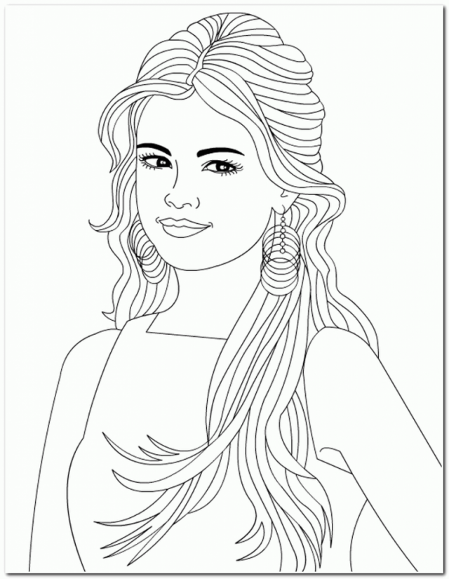 coloring pages of girls realistic coloring page fashion gal cute coloring pages of girls coloring pages realistic
