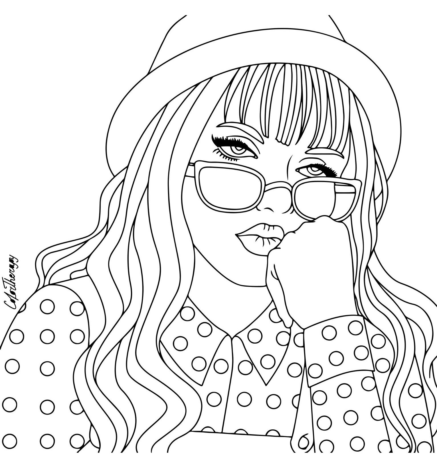 coloring pages of girls realistic idea by rosie chavez on art people coloring pages cute coloring of realistic girls pages