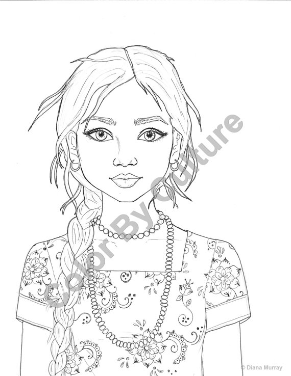 coloring pages of girls realistic realistic girl coloring pages at getcoloringscom free of girls pages realistic coloring