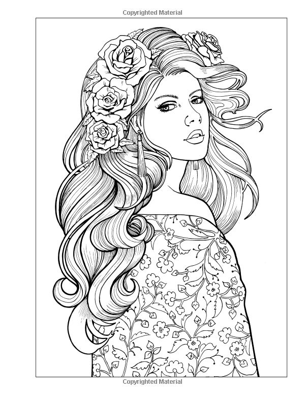 coloring pages of girls realistic realistic girl coloring pages at getcoloringscom free of realistic girls coloring pages