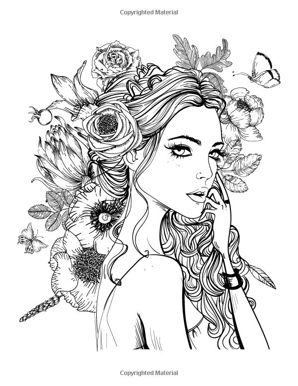 coloring pages of girls realistic realistic girl coloring pages at getcoloringscom free realistic coloring pages girls of