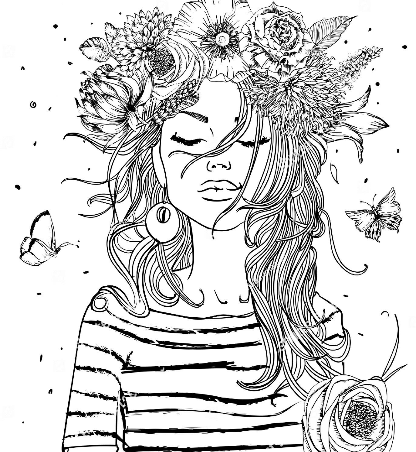 coloring pages of girls realistic teenage girl drawing at getdrawings free download of pages girls coloring realistic