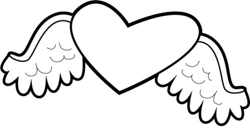 coloring pages of hearts with wings 7 hearts with wings coloring pages for kids gtgt disney coloring with hearts of wings pages