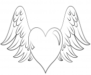coloring pages of hearts with wings heart with wings and ring coloring page coloring pages hearts coloring of pages wings with