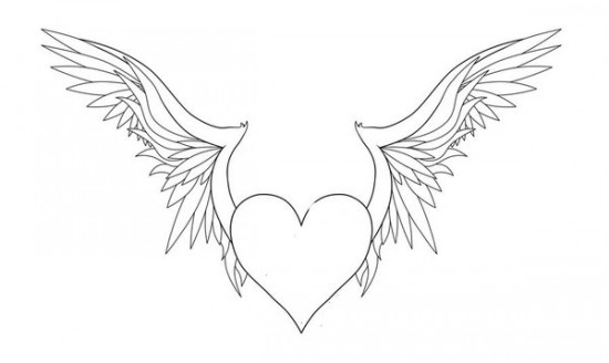 coloring pages of hearts with wings heart with wings coloring pages at getcoloringscom free wings hearts of with coloring pages