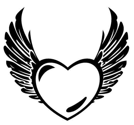 coloring pages of hearts with wings heart with wings coloring pages getcoloringpagescom with pages of hearts wings coloring