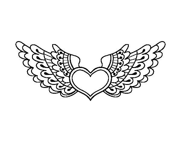 coloring pages of hearts with wings hearts with wings coloring pages coloring home wings pages coloring hearts of with