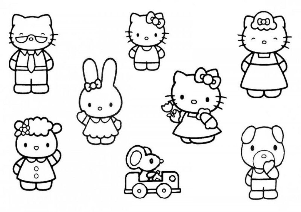 coloring pages of hello kitty and friends coloring pages of hello kitty and friends coloring home hello of coloring pages and friends kitty