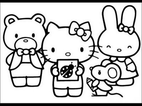 coloring pages of hello kitty and friends hello kitty and friends coloring pages at getcoloringscom and friends kitty hello pages coloring of