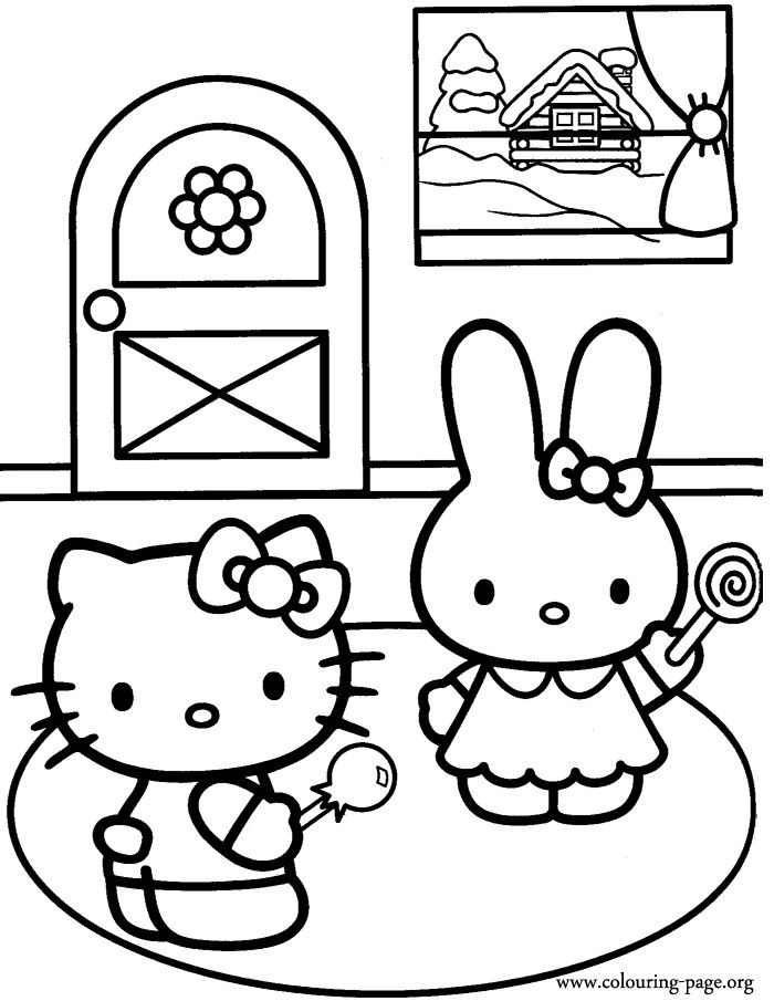 coloring pages of hello kitty and friends hello kitty and friends coloring pages coloring home coloring and hello kitty friends pages of