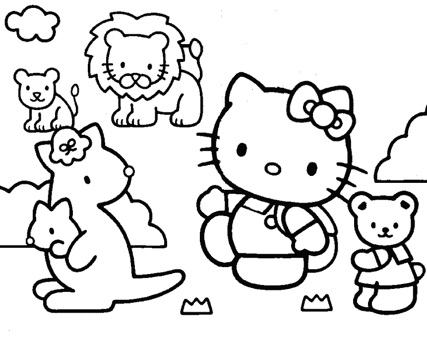 coloring pages of hello kitty and friends hello kitty and friends coloring pages coloring home kitty friends coloring of hello and pages