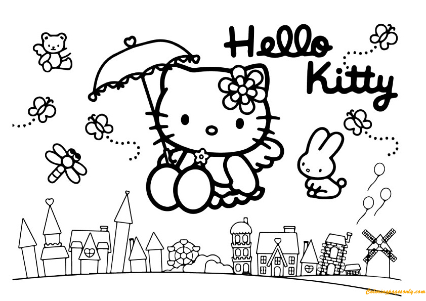 coloring pages of hello kitty and friends hello kitty and friends coloring pages slim image of kitty friends coloring pages and hello