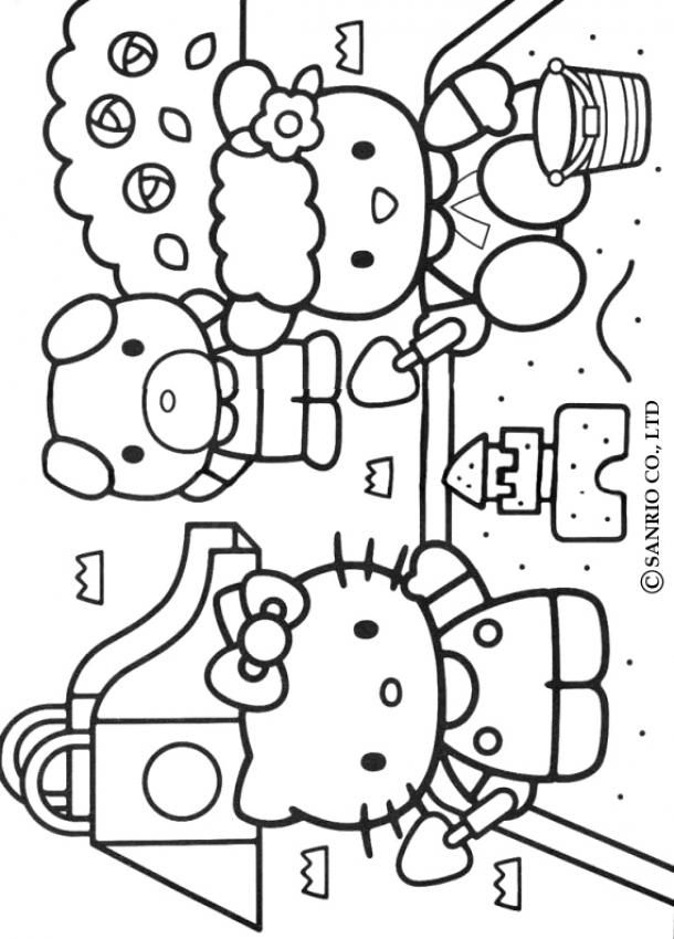 coloring pages of hello kitty and friends hello kitty and friends coloring pages slim image pages kitty hello friends of and coloring