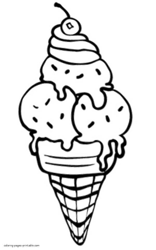 coloring pages of ice cream ice cream coloring pages download and print for free of cream pages coloring ice