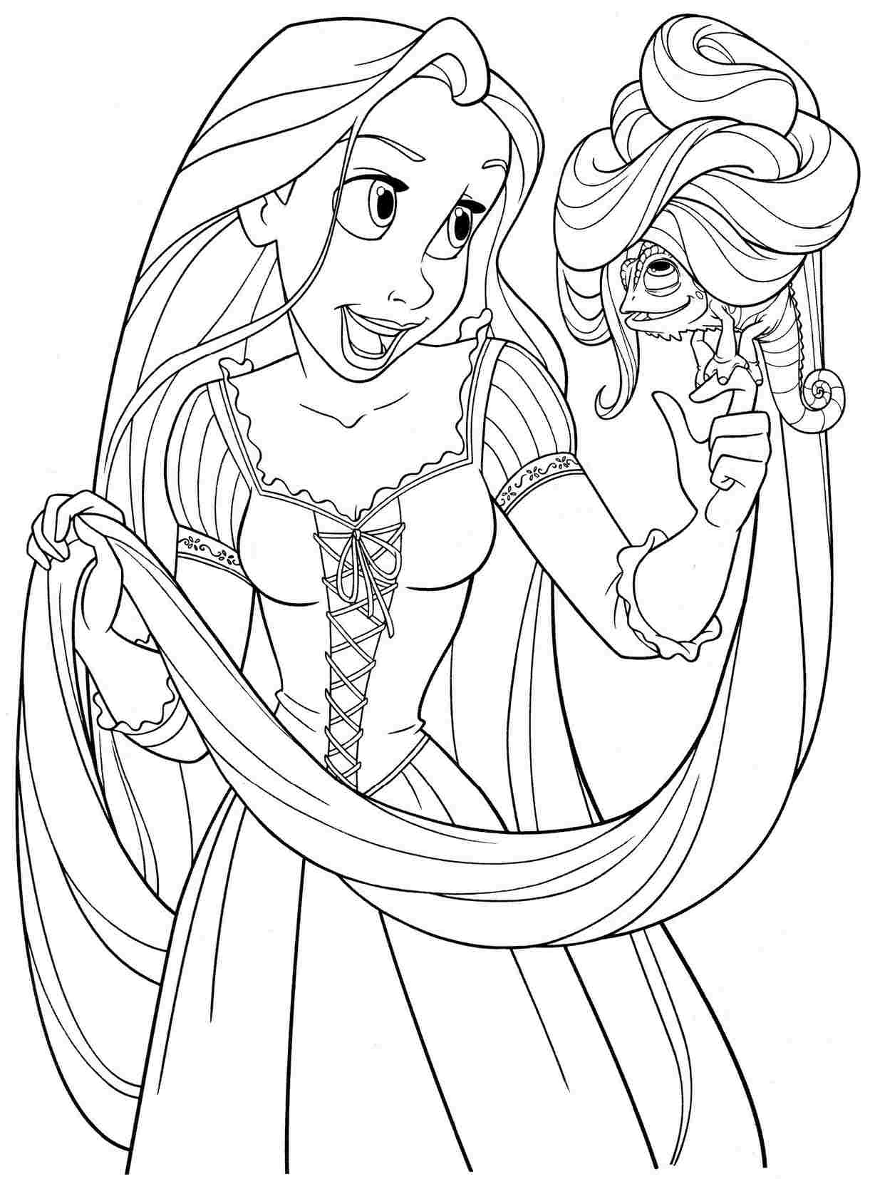 coloring pages of rapunzel rapunzel coloring pages to download and print for free of rapunzel coloring pages