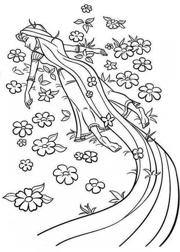 coloring pages of rapunzel rapunzel sleep coloring page kids play color rapunzel coloring pages of