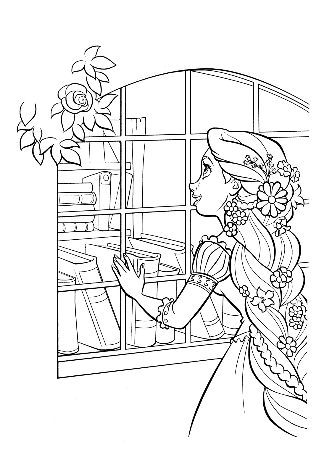coloring pages of rapunzel tangled coloring pages disneyclipscom of rapunzel pages coloring