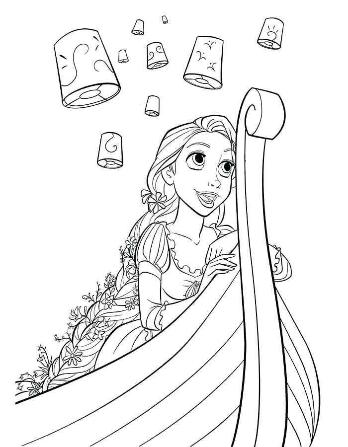 coloring pages of rapunzel the best free rapunzel coloring page images download from rapunzel of pages coloring