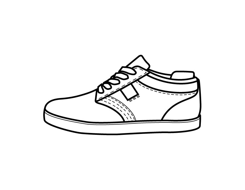 coloring pages of shoes jordan shoes coloring pages at getdrawings free download coloring of shoes pages