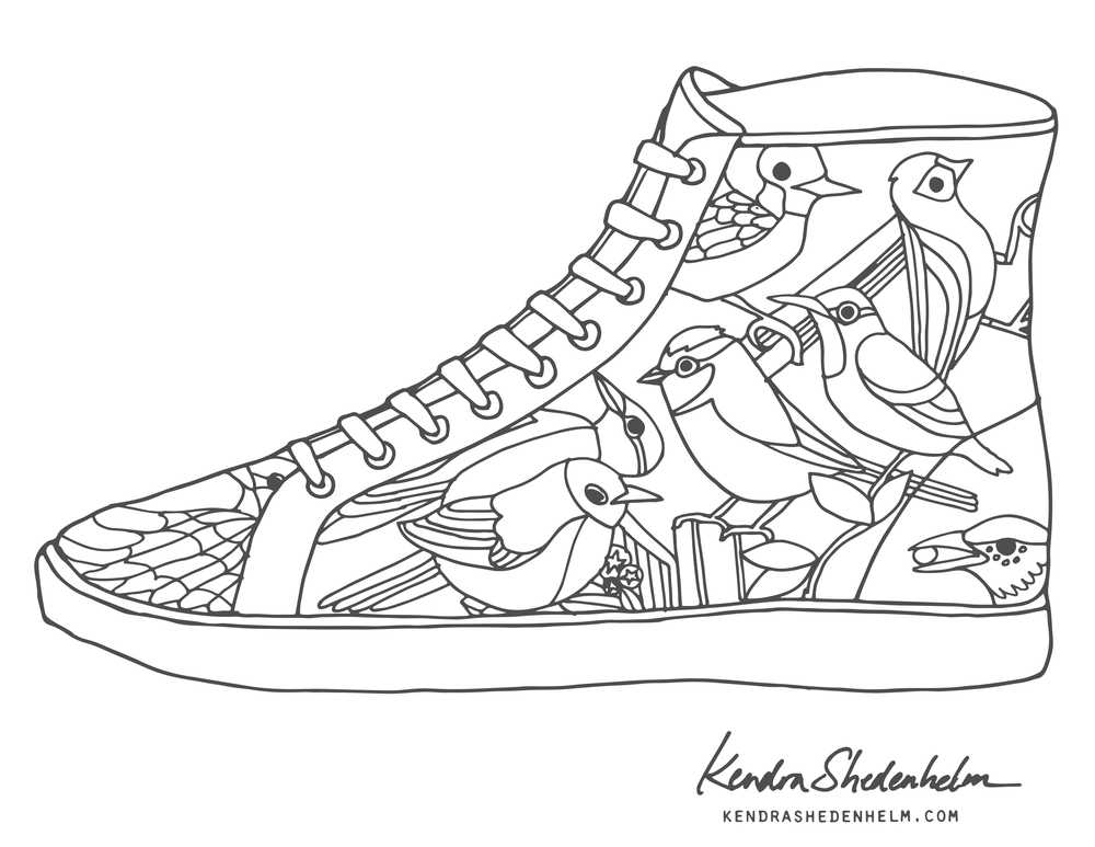 coloring pages of shoes vans shoes coloring pages at getcoloringscom free coloring shoes of pages