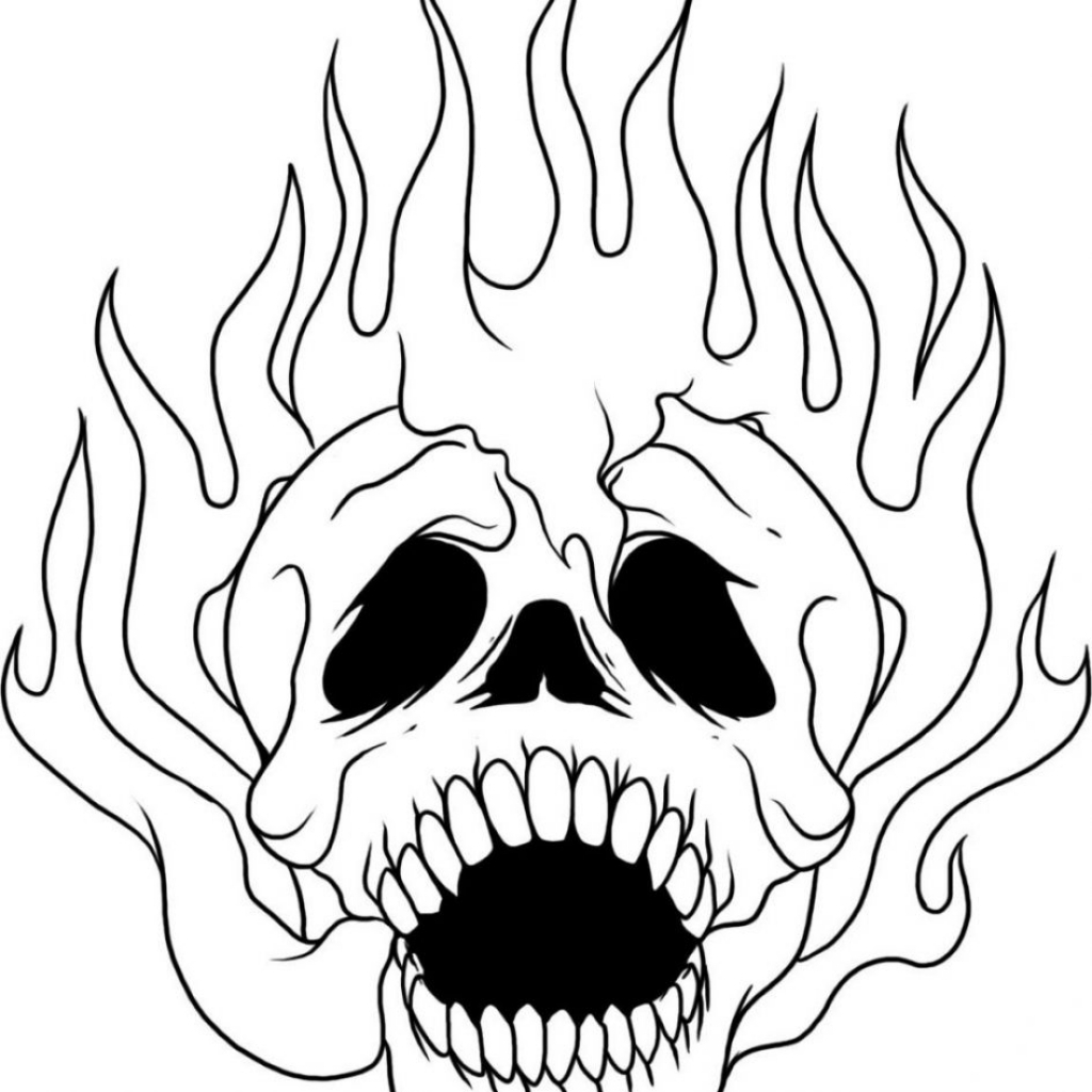 coloring pages of skulls with flames flaming skull coloring page coloring sky pages coloring skulls of with flames