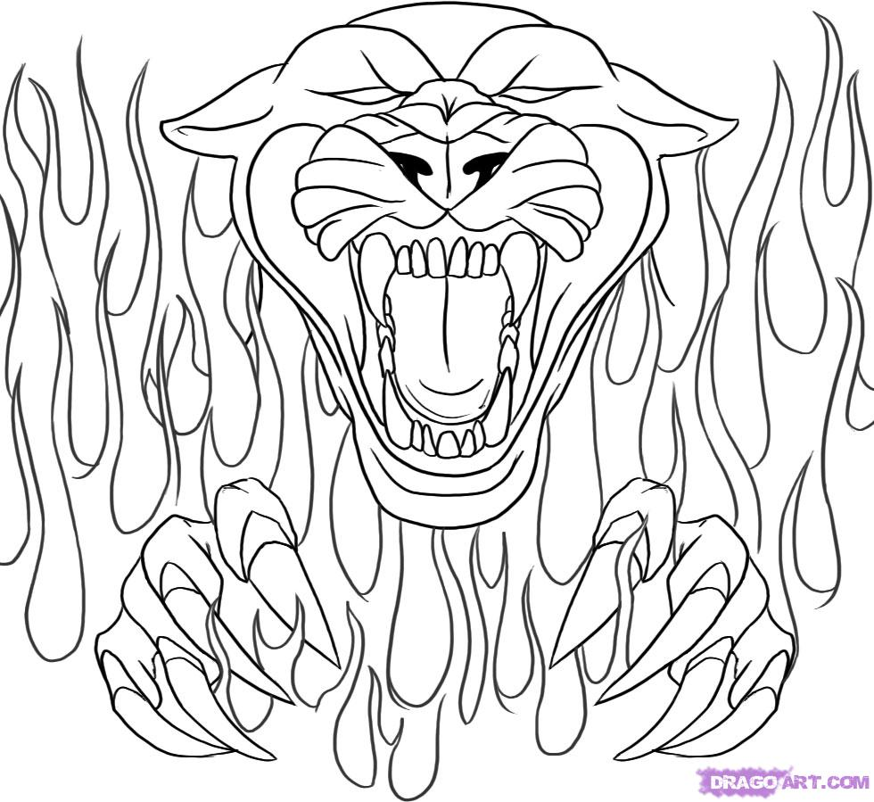 coloring pages of skulls with flames flaming skull coloring pages at getdrawings free download of pages flames skulls with coloring