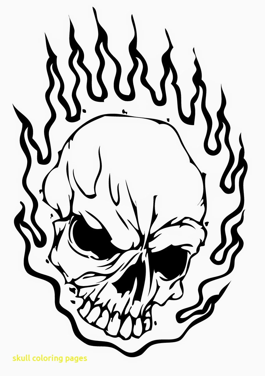 coloring pages of skulls with flames simple flame drawing at getdrawings free download of skulls pages coloring with flames