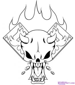 coloring pages of skulls with flames skull with flames drawing free download on clipartmag coloring with skulls flames of pages