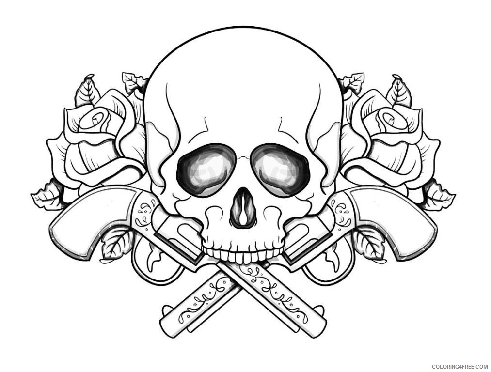 coloring pages of skulls with flames skulls on fire coloring pages at getdrawings free download flames of skulls with coloring pages