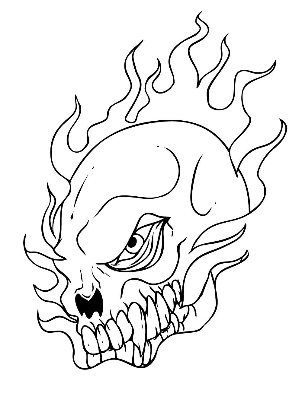 coloring pages of skulls with flames skulls on fire coloring pages at getdrawings free download pages coloring flames with skulls of