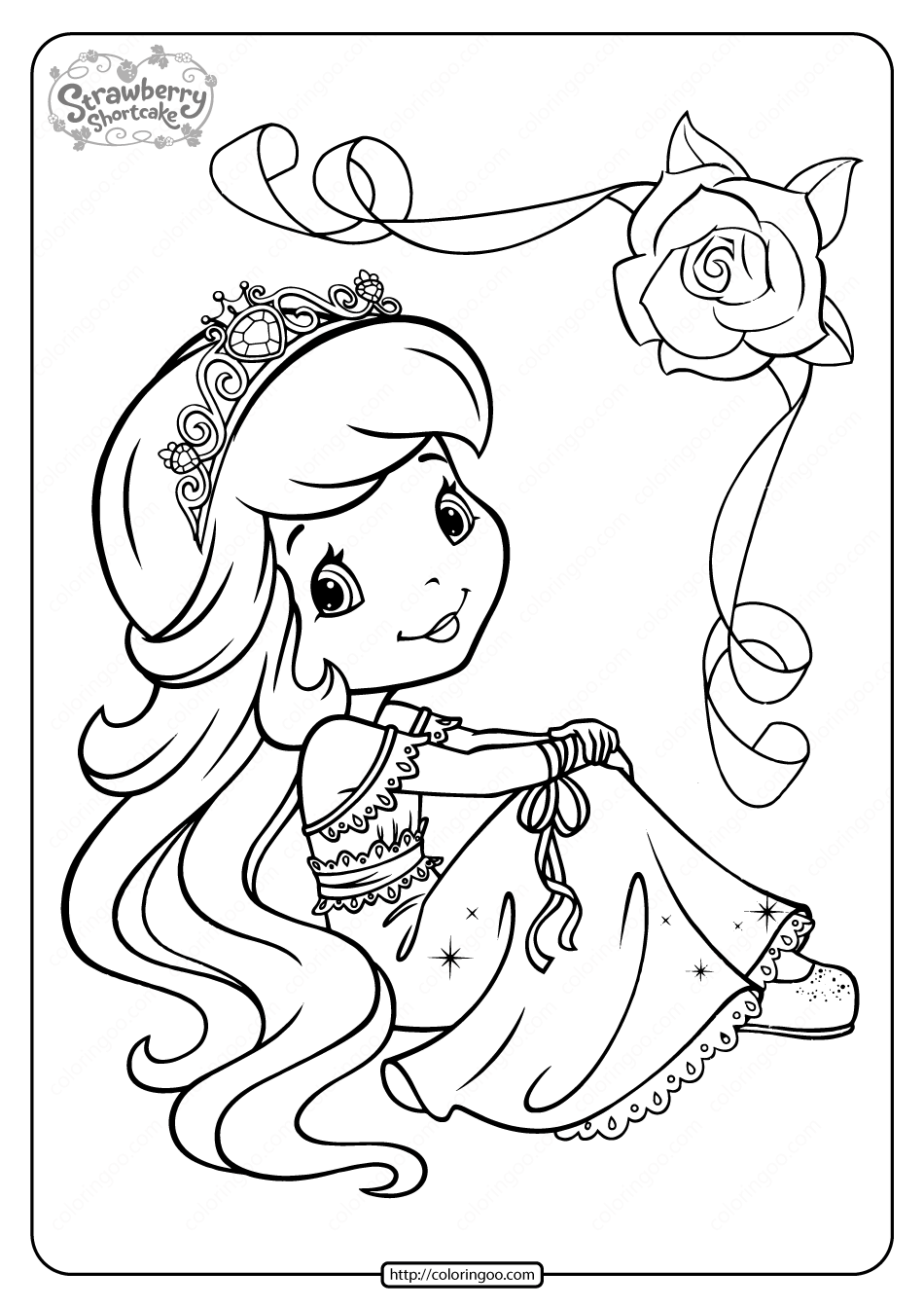 coloring pages of strawberry shortcake strawberry shortcake berrykins coloring pages free shortcake pages of coloring strawberry