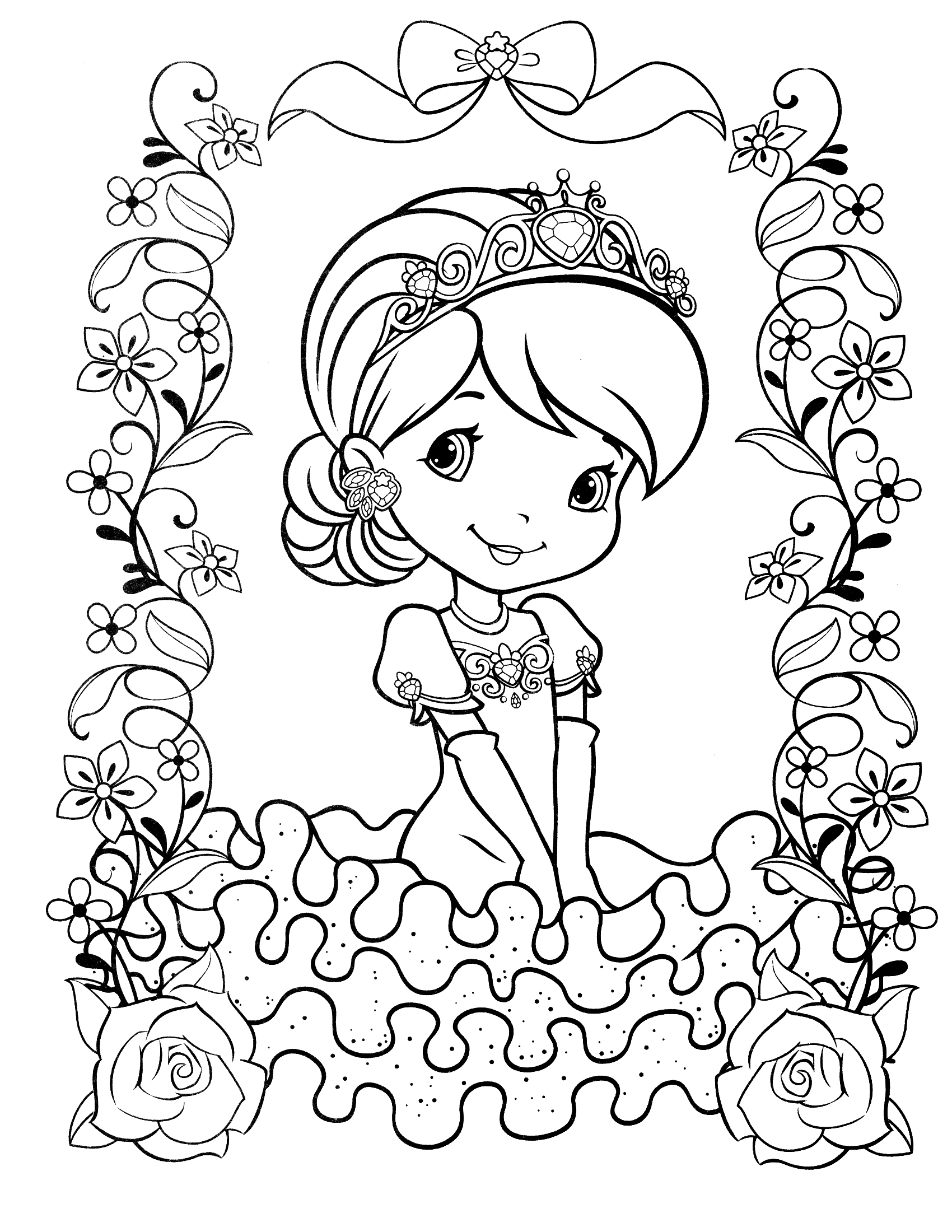 coloring pages of strawberry shortcake strawberry shortcake dog coloring pages at getcolorings pages shortcake coloring strawberry of