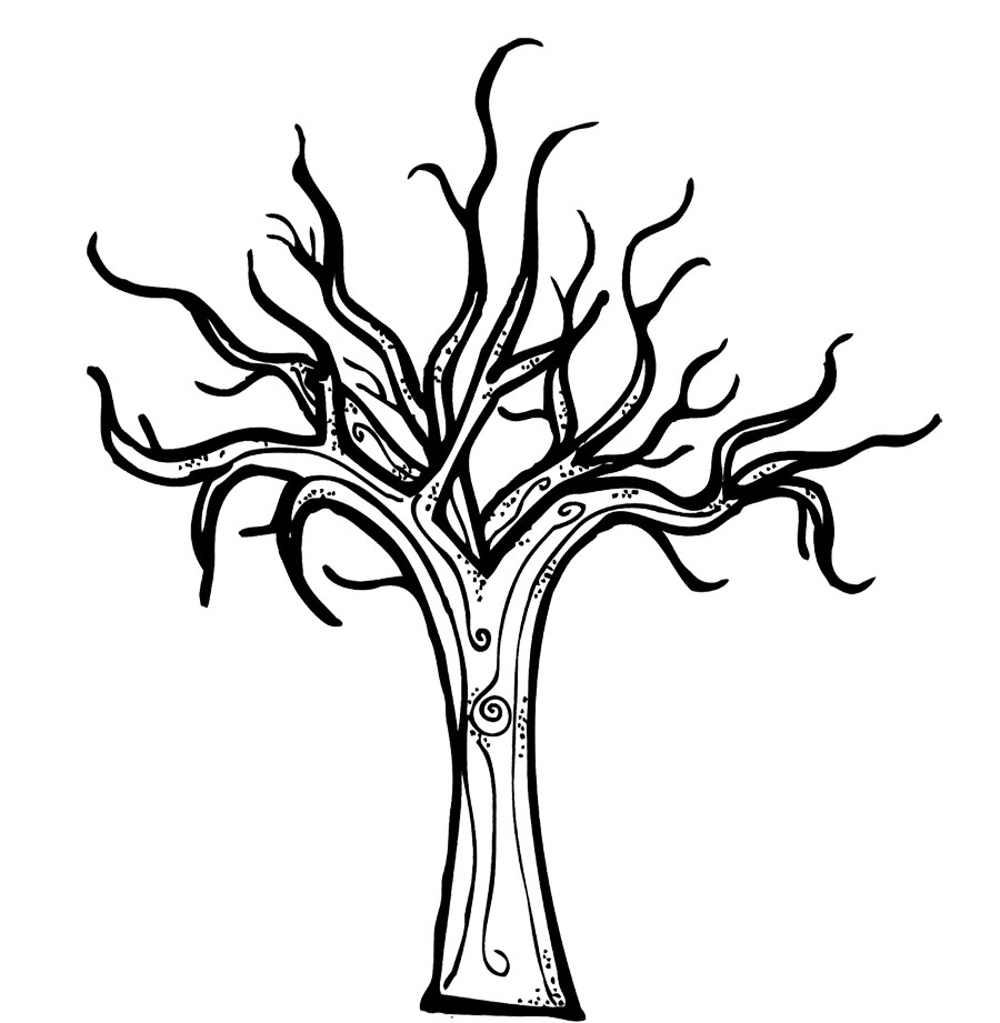 coloring pages of tree bare tree coloring page coloring home of tree coloring pages