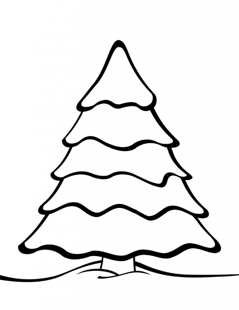coloring pages of tree best christmas tree outline 7027 clipartioncom tree pages of coloring