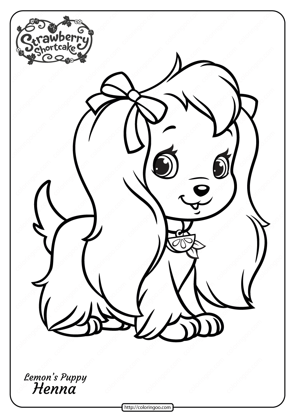 coloring pages printable free free printable lemon39s puppy henna pdf coloring page coloring printable free pages
