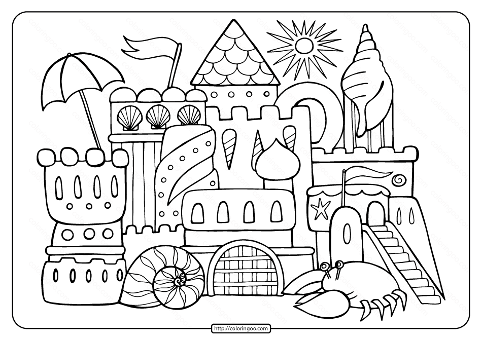 coloring pages printable free free printable sandcastle adult coloring page free printable pages coloring