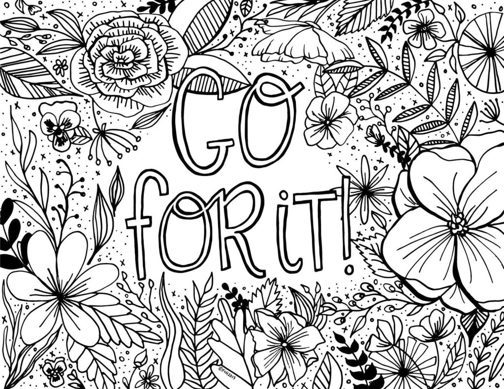 coloring pages printable free get this printable adult coloring pages quotes go for it free coloring printable pages