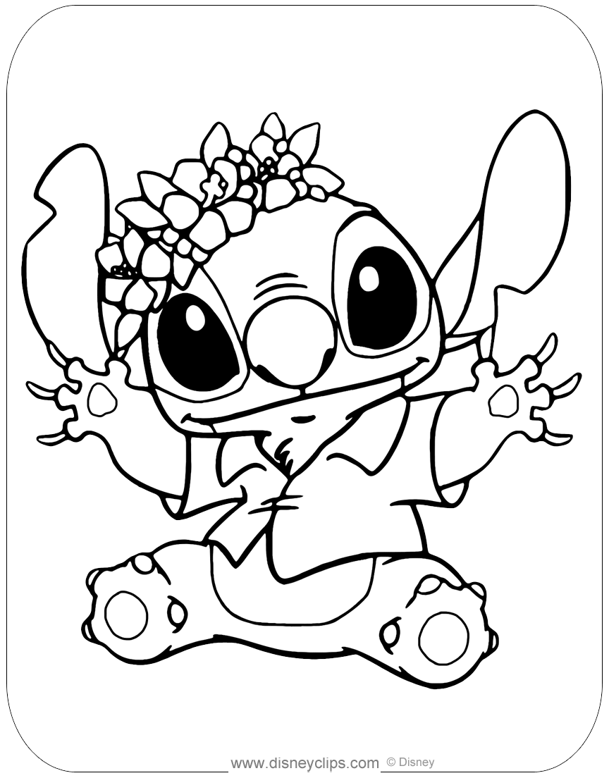 coloring pages stitch lilo and stitch coloring pages disneyclipscom pages coloring stitch