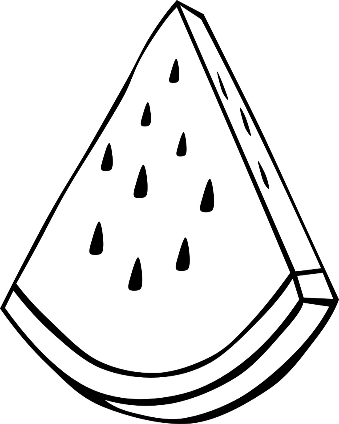 coloring pages watermelon watermelon coloring page at getcoloringscom free coloring watermelon pages