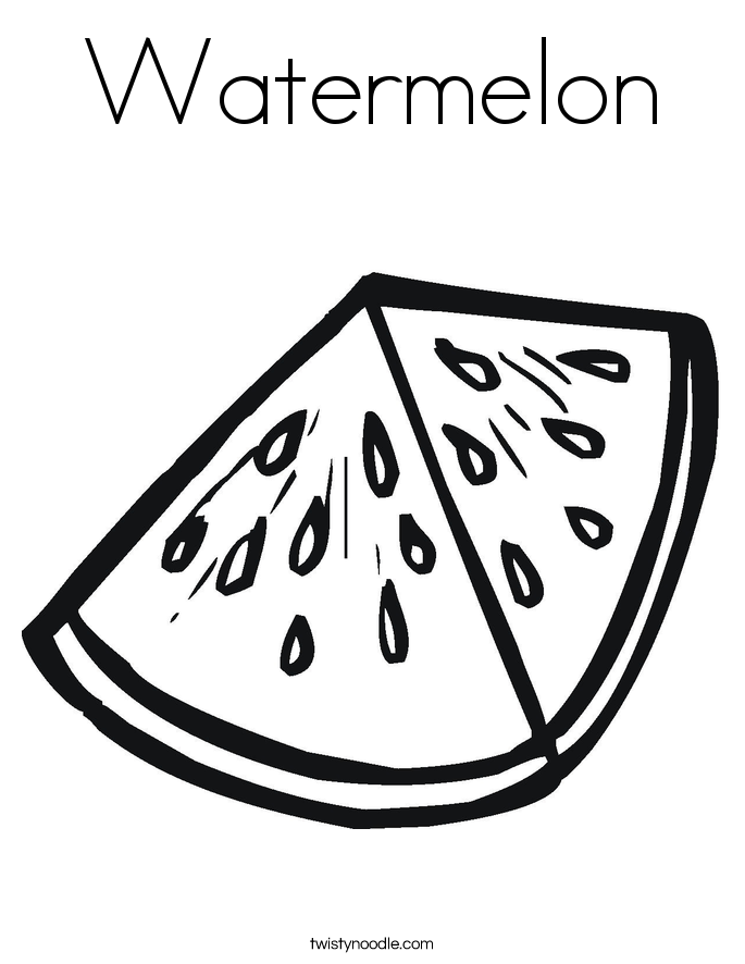 coloring pages watermelon watermelon coloring page twisty noodle pages watermelon coloring