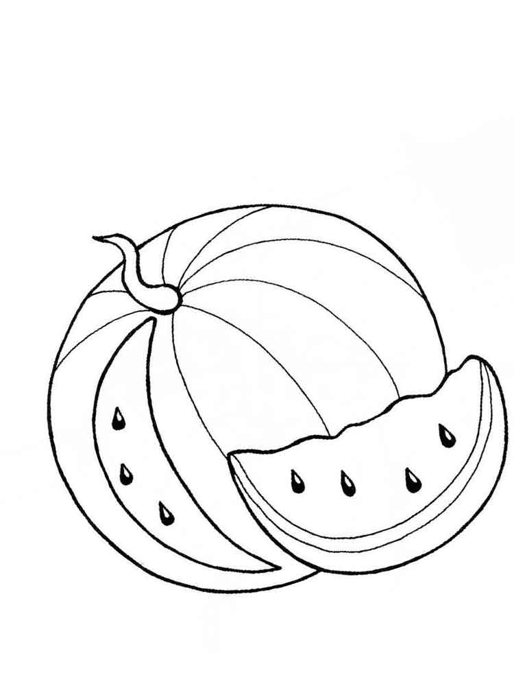 coloring pages watermelon watermelon coloring pages preschoolers funsoke watermelon coloring pages