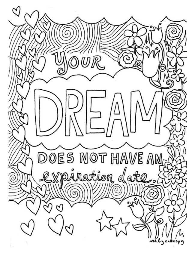 coloring pages with quotes 12 inspiring quote coloring pages for adultsfree printables quotes pages with coloring