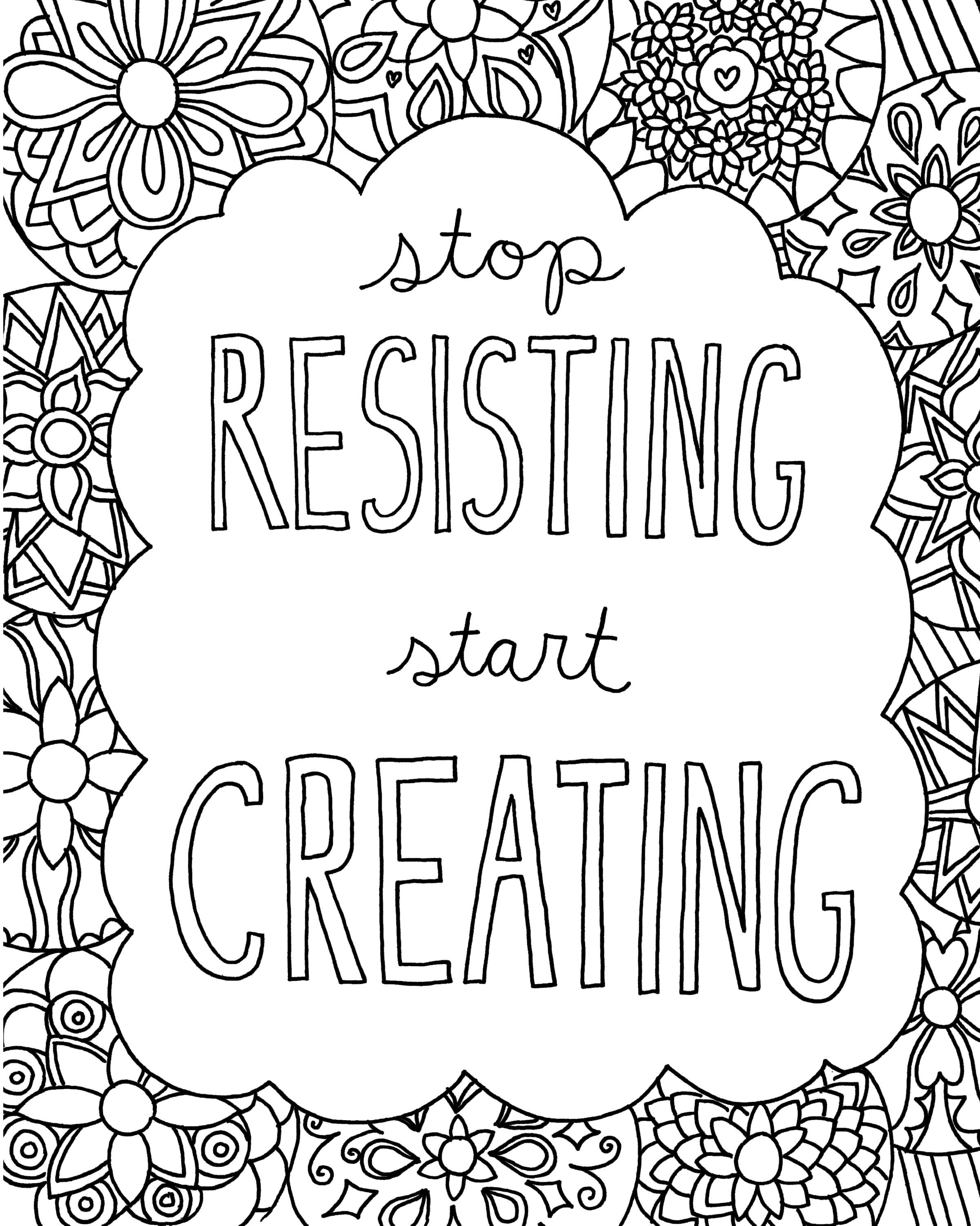 coloring pages with quotes happiness is where you decide to be positive inspiring quotes coloring with pages