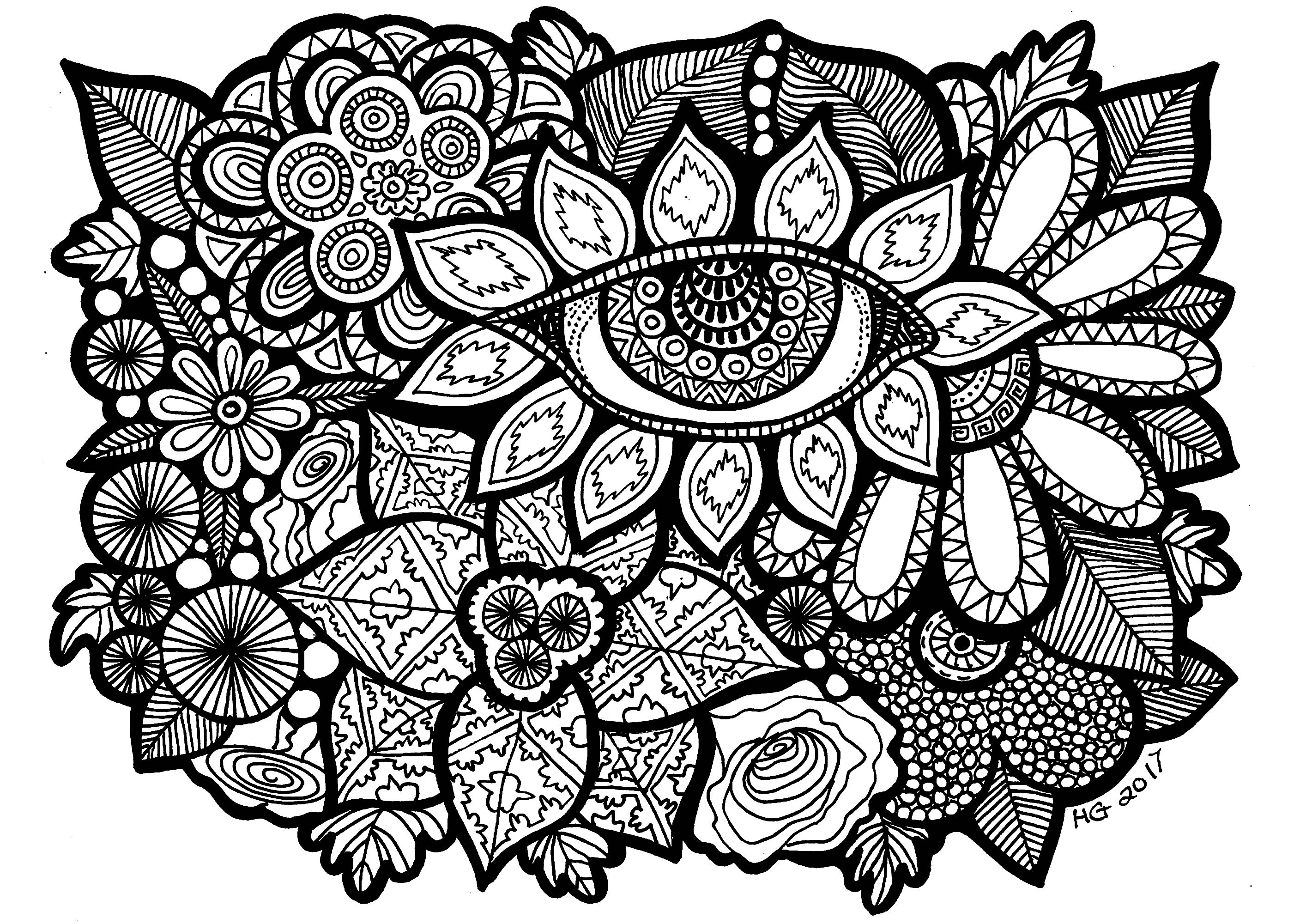 coloring pages zentangle eye of the garden zentangle adult coloring pages coloring pages zentangle
