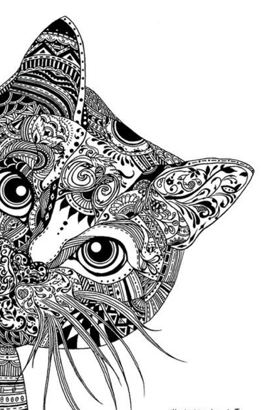 coloring pages zentangle zentangle coloring pages cat sketch coloring page pages coloring zentangle 1 1