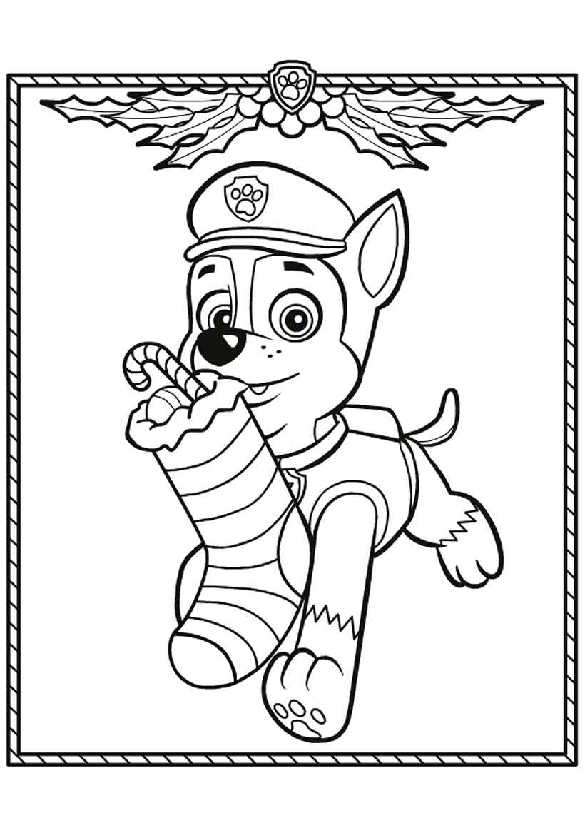 coloring paw patrol chase chase paw patrol coloring pages to download and print for free paw coloring patrol chase