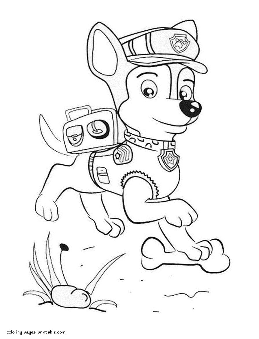 coloring paw patrol chase coloring book paw patrol print free a4 50 pictures chase paw patrol coloring